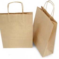 Gulf East Paper Bag with Handle Brown 4