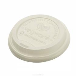 Vegware white lid